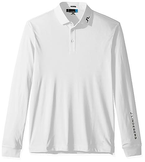 Amazon.com  J.Lindeberg Men s M Tour Tech Ls Reg Tx Jersey, White, L ... 672fe717b2