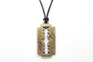 9716aa180de4b Amazon.com: Razor Blade Unisex Necklace with Rope: Jewelry