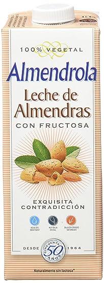 Almendrola Bebida Vegetal de Almendra Fructosa - Paquete de 6 x 1000 ml - Total:
