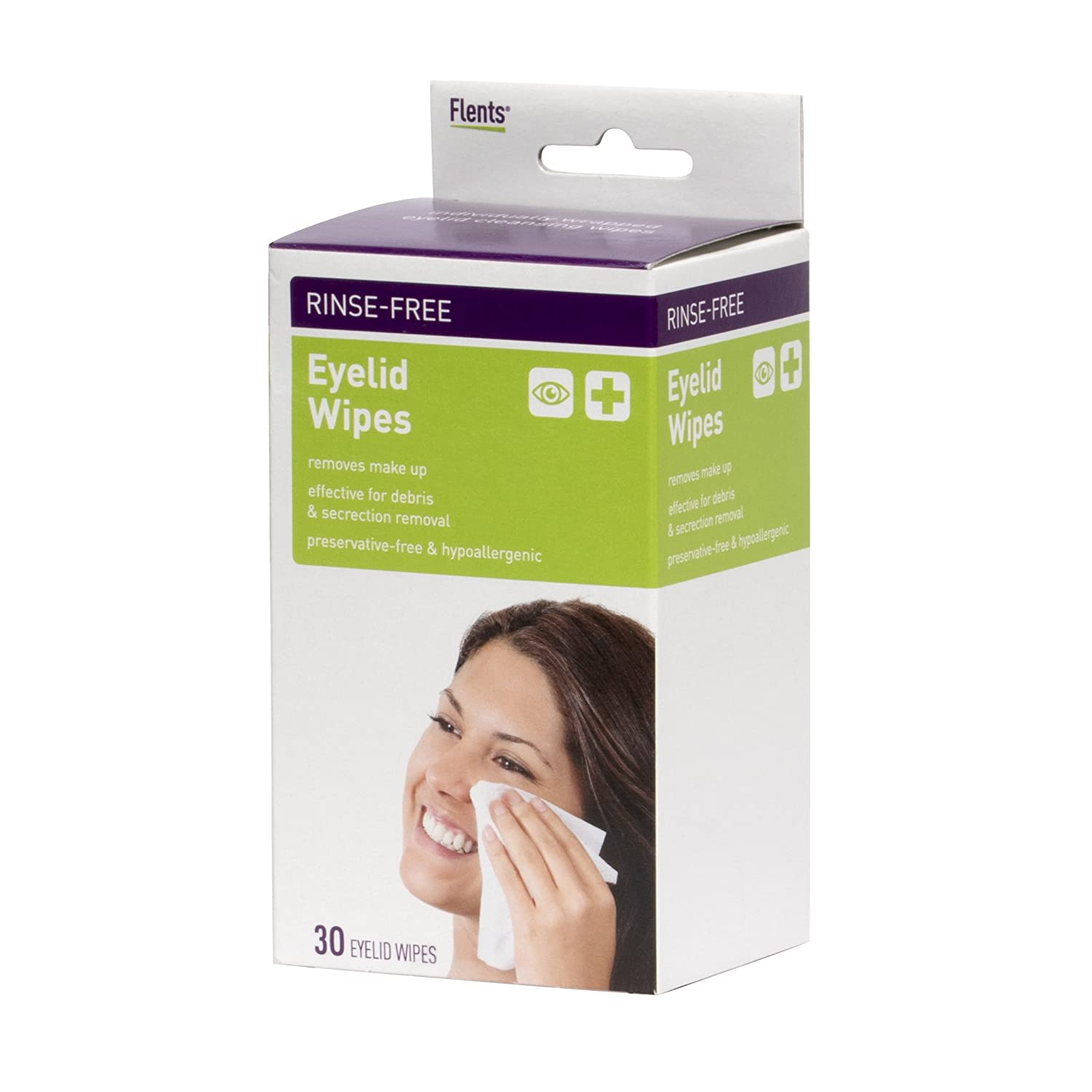 Flents Rinse Free Eyelid Wipes - 30 Count API 68300