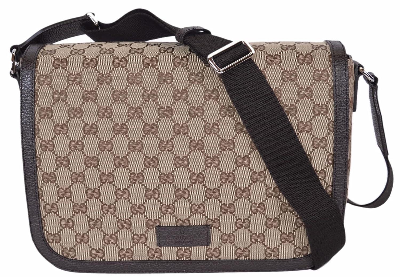fbc27058c55 Amazon.com  Gucci GG Guccissima Canvas Large Crossbody Messenger Bag  (449171 Beige)  Shoes