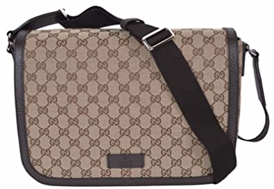 45829a3dc19 Image Unavailable. Image not available for. Color  Gucci GG Guccissima  Canvas Large Crossbody Messenger Bag (449171 Beige)