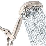 Shower Head, SR SUN RISE 6-Settings 4.8' High Pressure Handheld Shower Head Set with 1.8 Meter/71 Inch/ 5.9 FT Long…