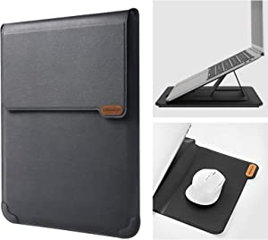 """Nillkin 13 inch Laptop Sleeve Case Laptop Stand Adjustable, Computer Shock Resistant Bag with Mouse Pad for 13"""" MacBook Pro and MacBook Air, XPS 13, Surface Book 13.5"""", 12.9"""" New iPad Pro, Black"""