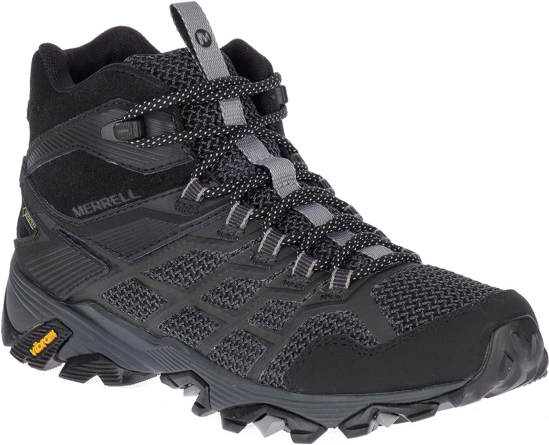 Merrell Moab FST 2 Mid GTX Shoes Women All Black 2018 Schuhe