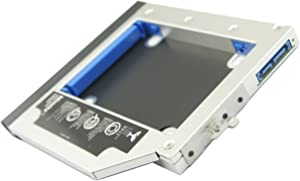 Nimitz 2nd HDD SSD Hard Drive Caddy for Hp Elitebook 6930p 8440p/w 8530p/w 8540p/w 8730w 8740w with Faceplate/Bezel