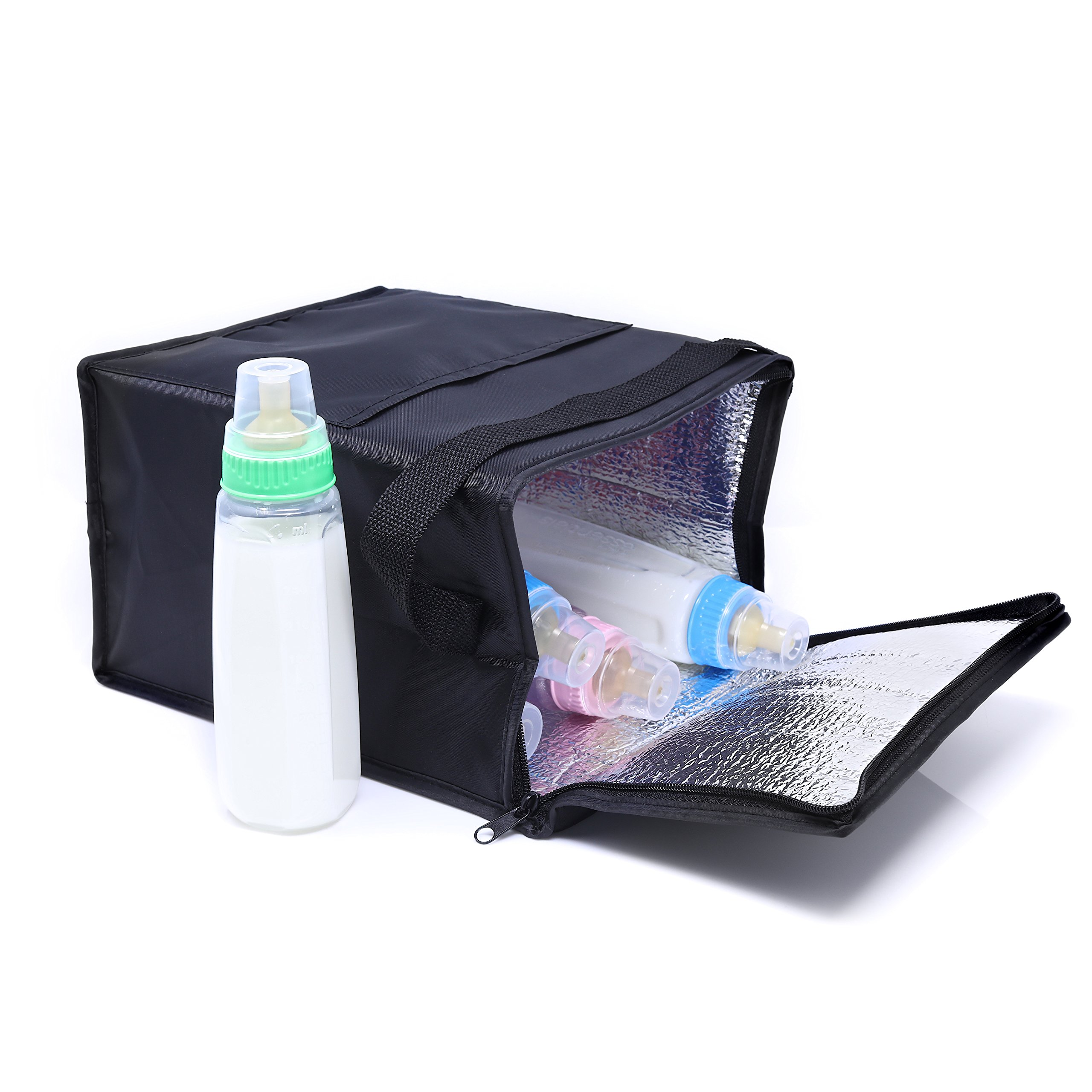 Breast Milk Insulated Baby Bottle Cooler Bag – Breastmilk Cooler Tote Insulated for Safe Storage of Breast Milk Baby Bottles and Preserves Important Nutrients