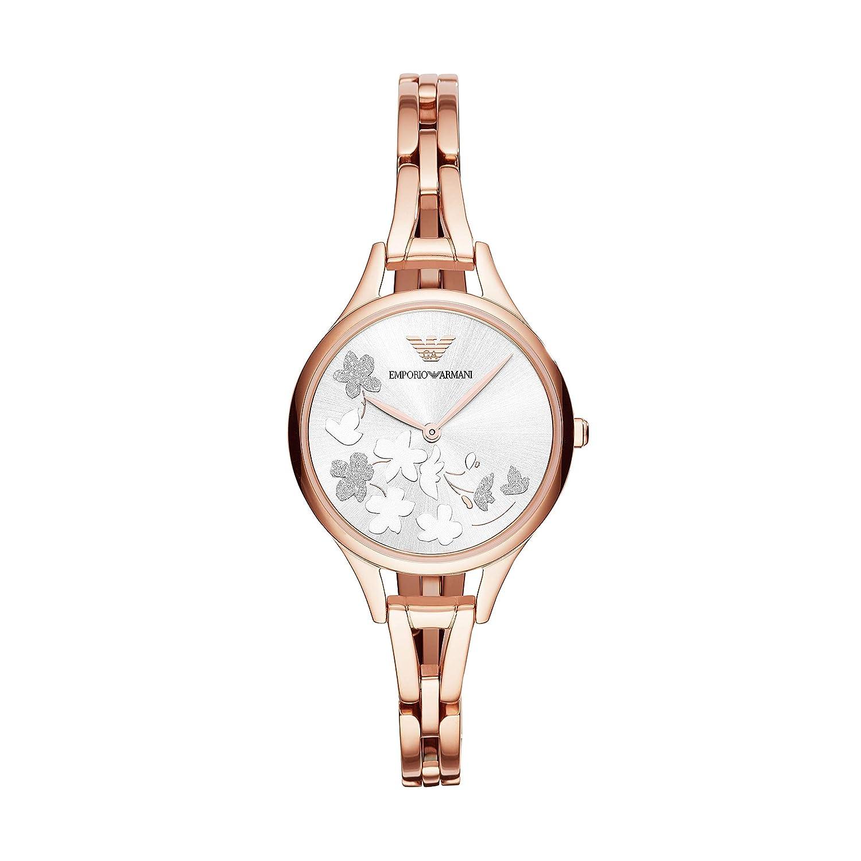 Amazon.com: emporio armani para mujer reloj de vestir, Rose ...