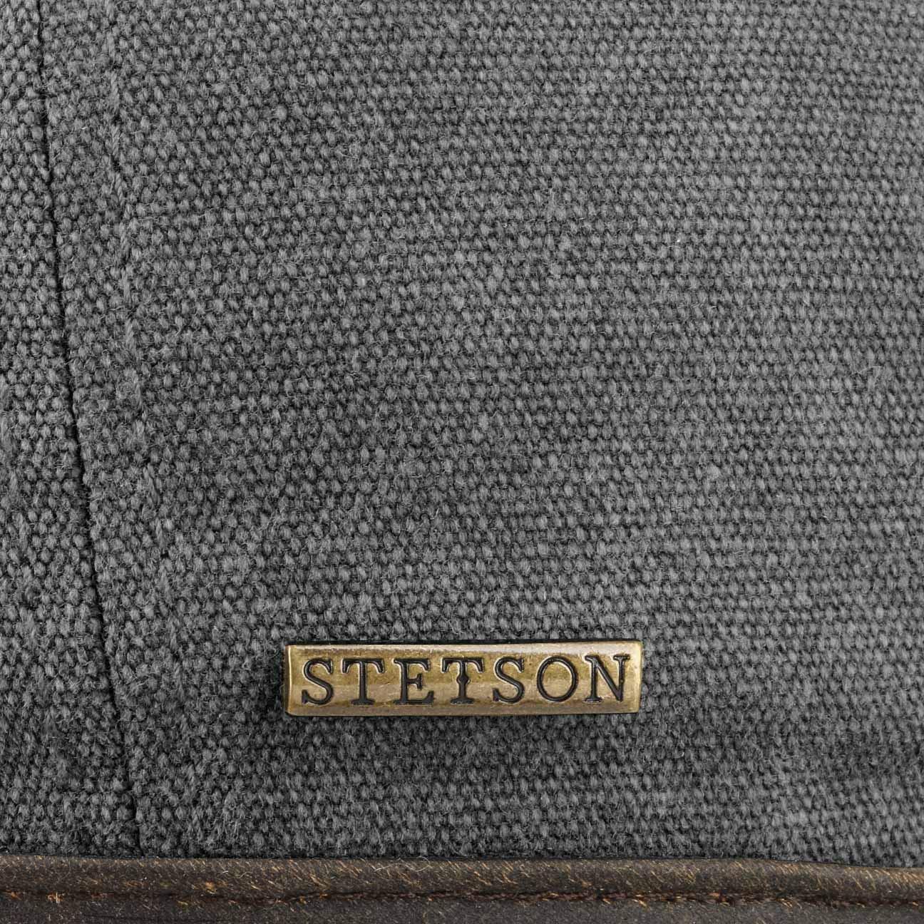 Stetson Hatteras Canvas Piping Flat Cap Men