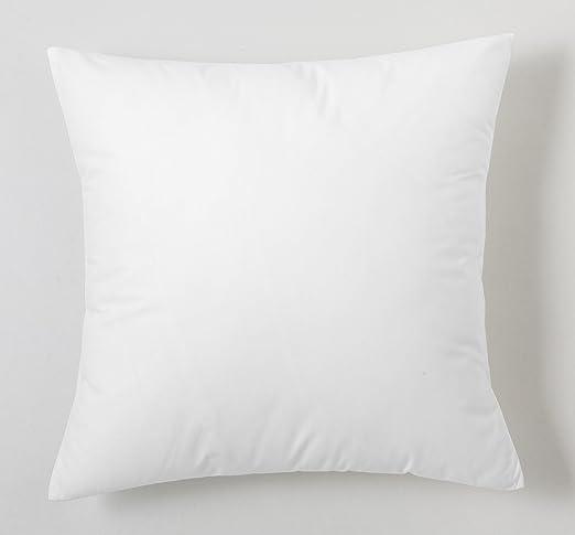 ESTELA - Funda de cojín Combi Lisos Color Blanco - Medidas 40x40 cm. - 50% Algodón-50% Poliéster - 144 Hilos: Amazon.es: Hogar