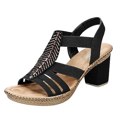 Woman Rieker Black Morokko Sandal Woman Sandal Rieker Morokko bY6vIfg7y