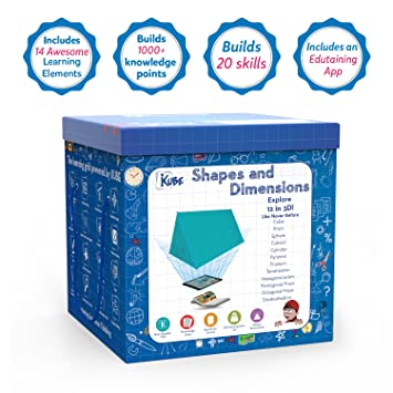 Kompanions Shapes And Dimensions Kube Augmented Reality (Ar), Digital Games Powered Educational Toy