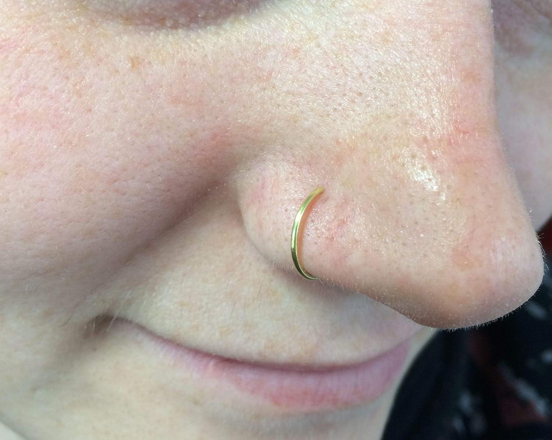 Amazon Com Set Of 4 Fake Nose Ring Clip On Nose Ring Faux Nose Ring Hoop Nose Ring Custom Nose Ring Handmade