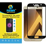 Samsung Galaxy A7 2017 Tempered Glass Black nzon [Full Coverage] [Original] [Easy Installation] Tempered Glass Screen Protector for Galaxy A7 2017 Tempered Glass Black