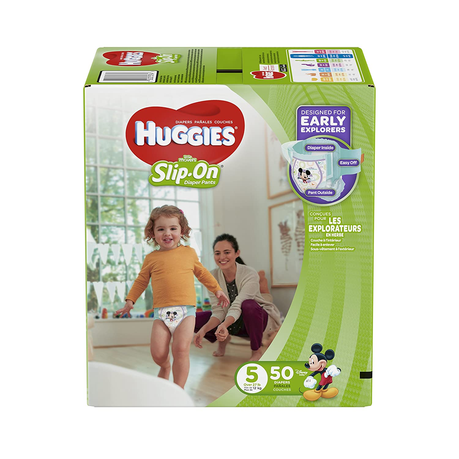 HUGGIES LITTLE MOVERS Slip-On Baby Diapers, Size 6, 42ct Kimberly-Clark Corp. CA 10036000373940