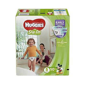 Amazon.com: HUGGIES Little Movers Slip On Diaper Pants, Size 5 ...