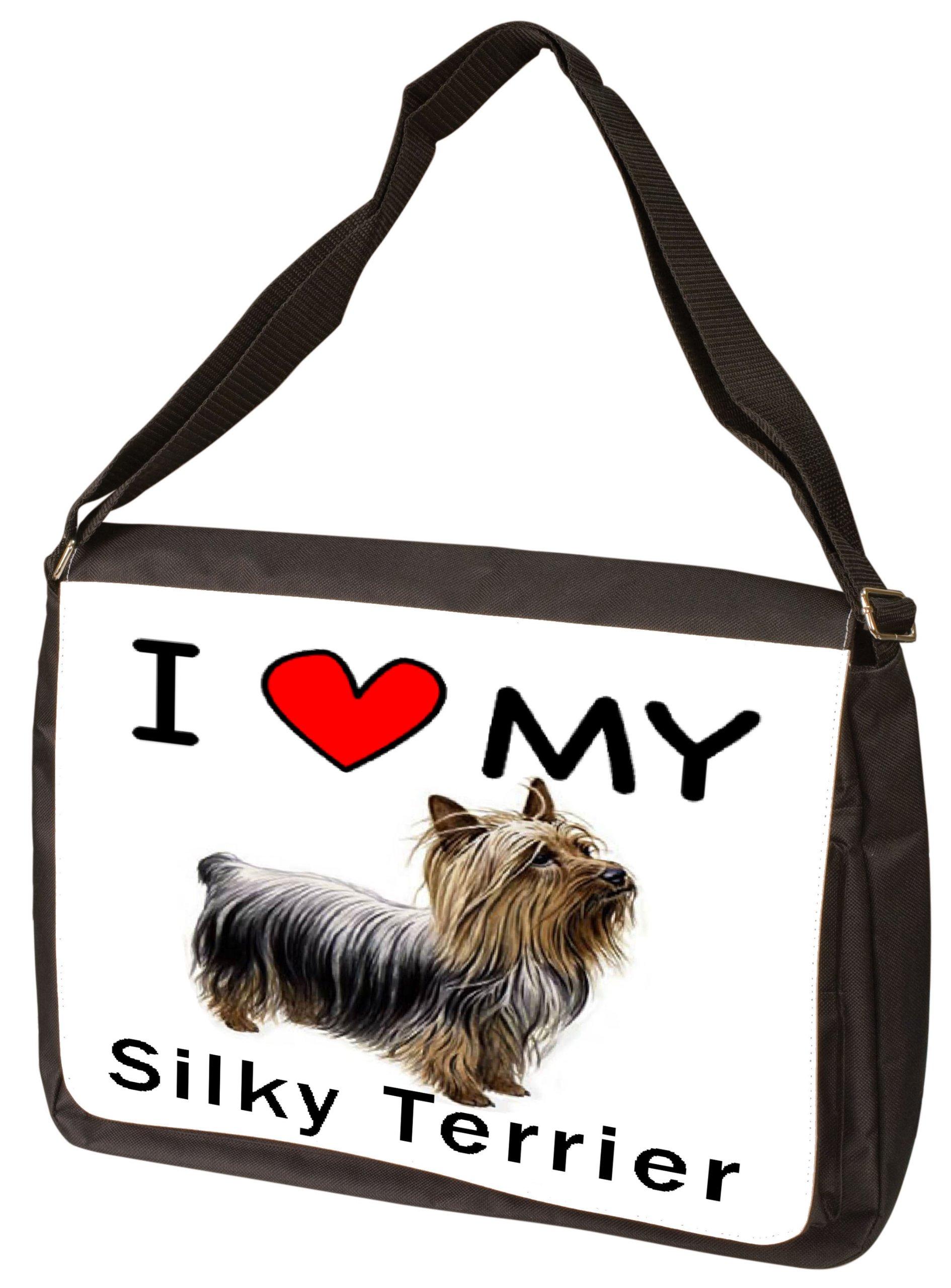 I Love My Silky Terrier Laptop Bag - Shoulder Bag - Messenger Bag