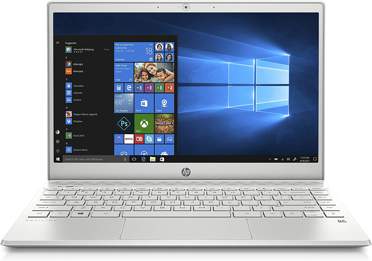 HP Pavilion 13-inch Light and Thin Laptop Intel Core i5-8265U Processor, 8 GB SDRAM Memory, 256 GB Solid-State Drive, Windows 10 (13-an0010nr, Mineral Silver) (4WJ36UA#ABA)