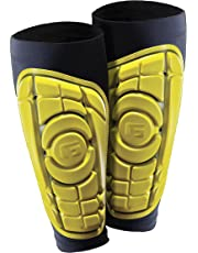 G-Form Men's Pro-S Elite Shin Guard for Football Shin Pads, Kickboxing, Hockey Providing Extended High Impact Protection and Enhanced Flexibility - Black and Yellow