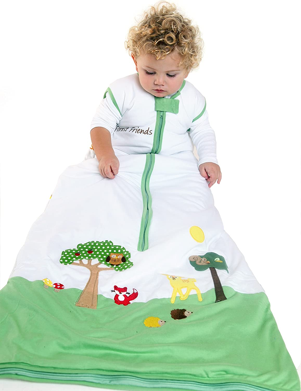 Forest Friends 3-6 years//XL Slumbersafe Summer Kid Sleeping Bag 1 Tog