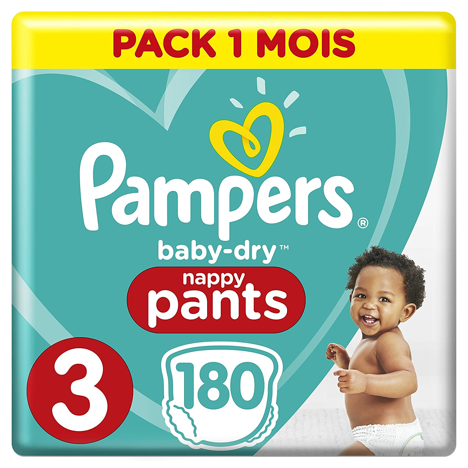 Pampers Baby Dry Pants Size 3 180 with Air Ducts Month (Box of 180 Pieces) 8001090699893