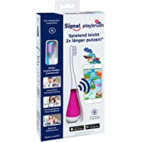 Playbrush Smart, smarte Kinder-Zahnbürste mit Apps zum spielerischen Erlernen des Zähneputzens (Signal Pink)