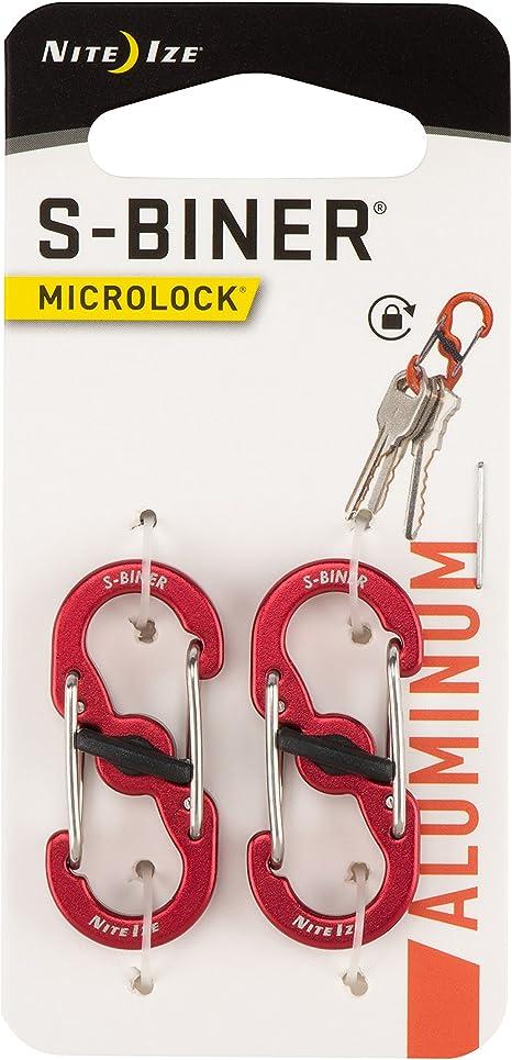 Nite Ize S-Biner MicroLock Aluminum Assorted Locking Dual-Gated 2-Packs of 5