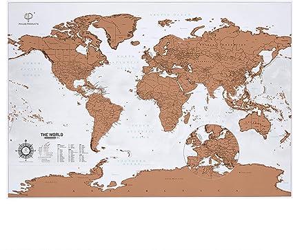 Póster con diseño de mapa del mundo para rascar y retocar los ...