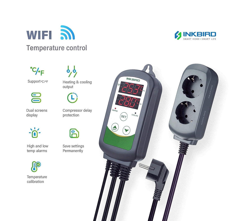 Inkbird Itc 308 Wlan Temperaturregler Mit Smart App Doppelstecker