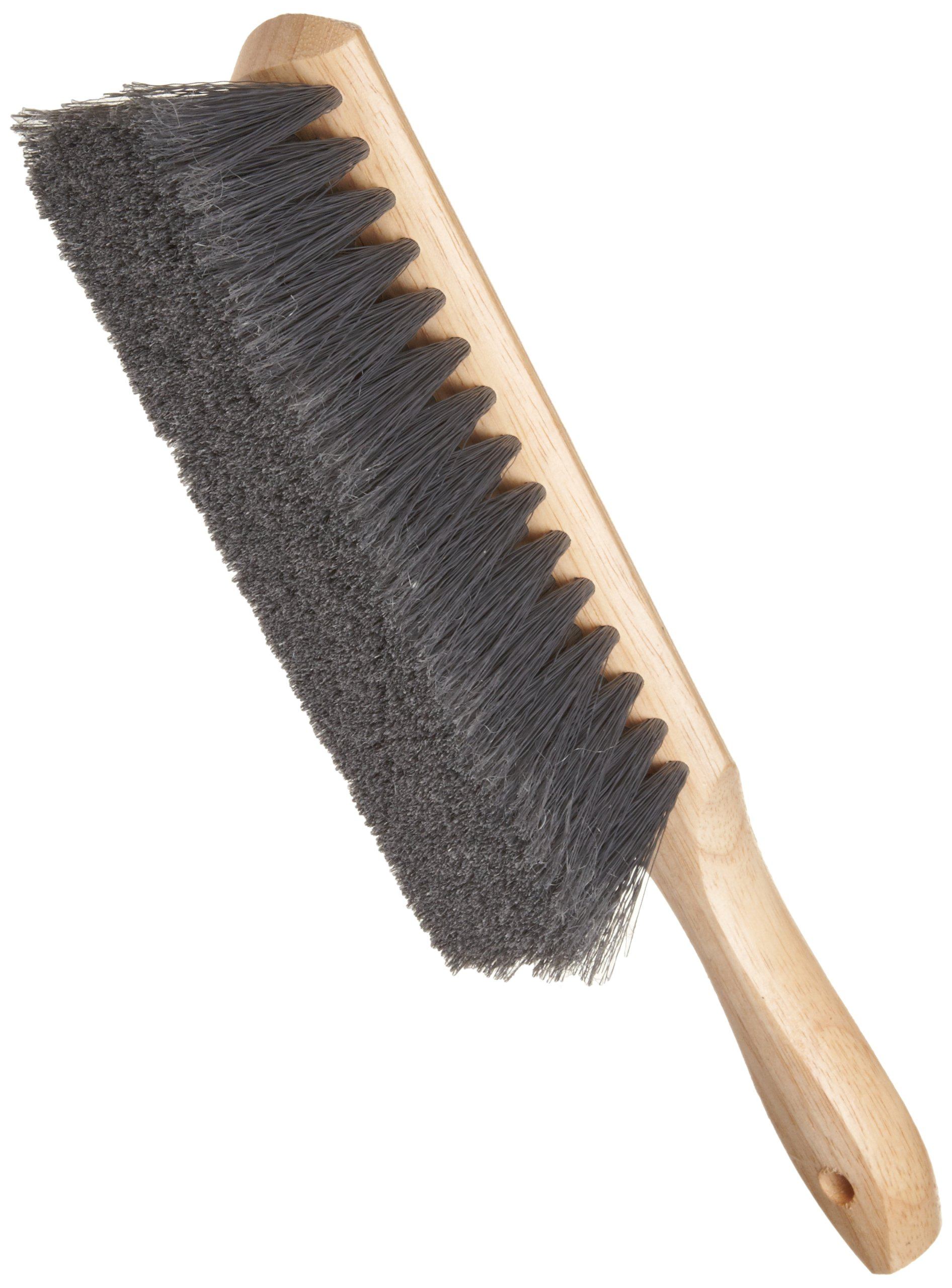 Weiler 44354 Counter Duster, Flagged Silver Polystyrene Fill, Wood Block, 8'' Brush Length