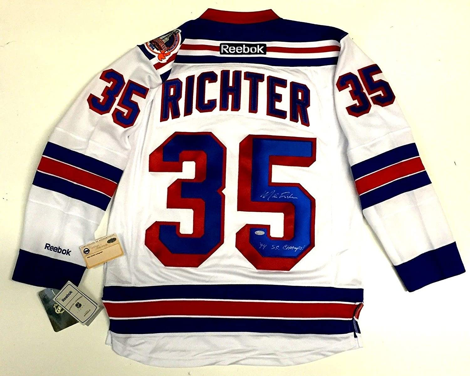 612544047f2 Autographed Mike Richter Jersey - Reebok 1994 Stanley Cup Coa - Steiner  Sports Certified at Amazon s Sports Collectibles Store