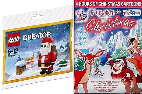lego creator santa claus toy builder a classic christmas cartoon dvd bundle rudolph the - Classic Christmas Cartoons