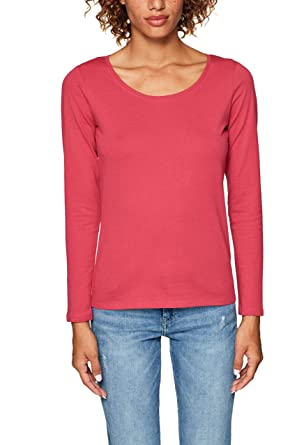 8b3673be4d93ba edc by Esprit Women's 088cc1k012 Long Sleeve Top, (Cherry Red 4 618),