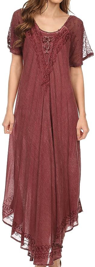 1930s Style Day Dresses Embroidered Caftan Dress  $24.99 AT vintagedancer.com