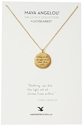 Amazon dogeared maya angelou nothing can dim the light quote amazon dogeared maya angelou nothing can dim the light quote round gold pendant necklace dogeared jewelry aloadofball Images