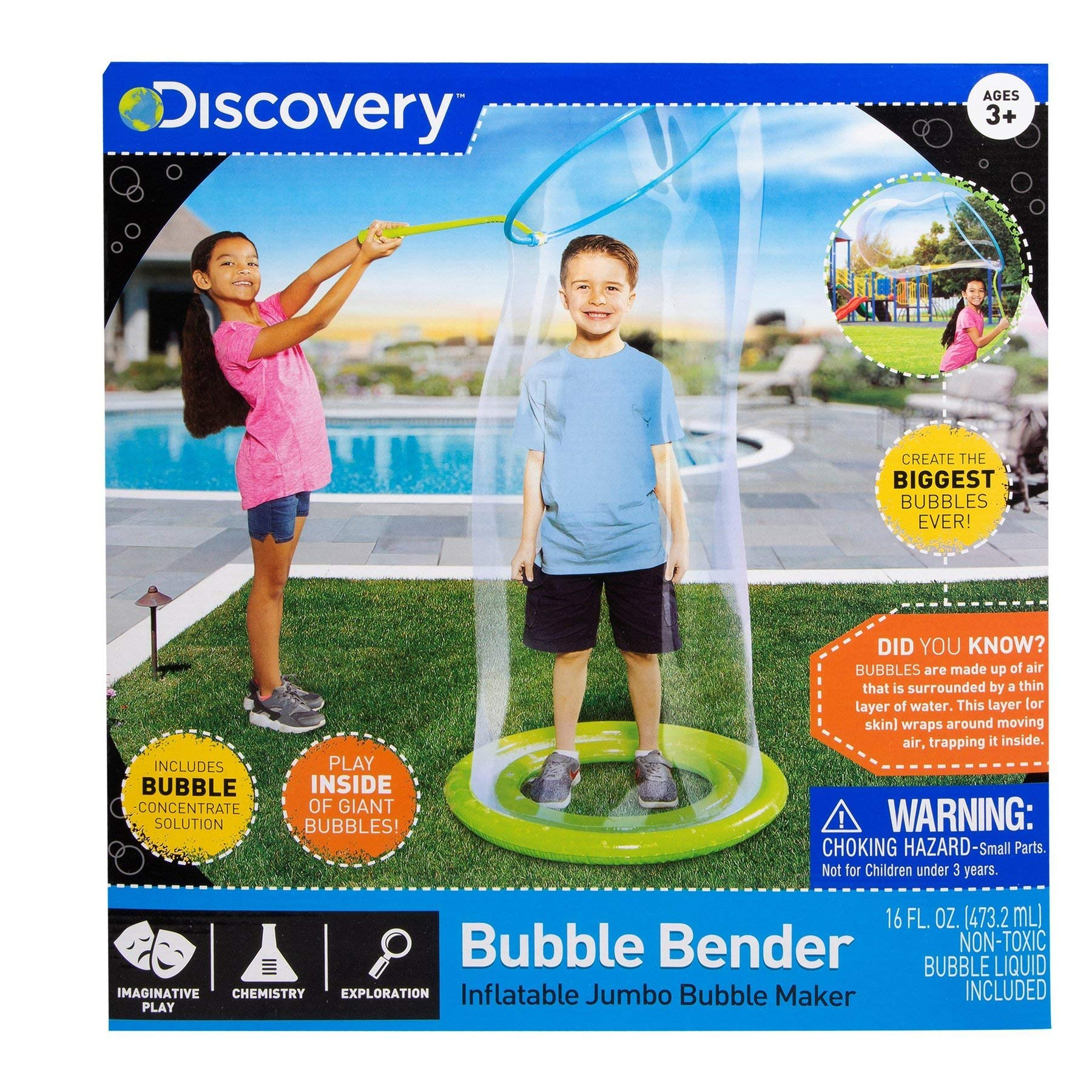 Discovery Jumbo Inflatable Bubble Bender