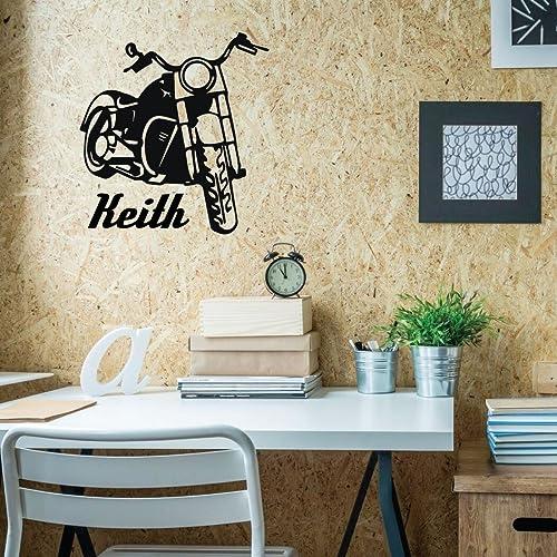 Amazoncom Motorcycle Wall Decor Personalized Vinyl Biker - Custom vinyl wall decals for garage