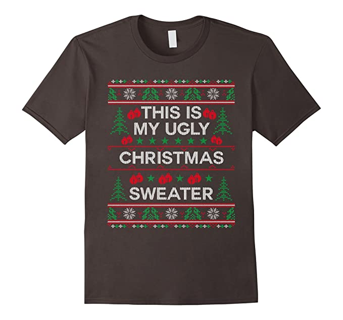 mens this is my ugly christmas sweater funny sweater style shirt 2xl asphalt - My Ugly Christmas Sweater