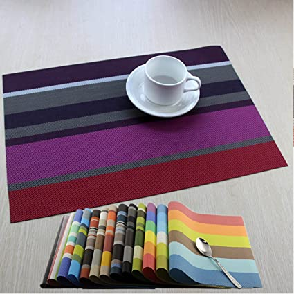 Placemats WANGCHAO Dining Table Mats Heat Resistant Washable Table Mats  Placemats For Dining Table Splice