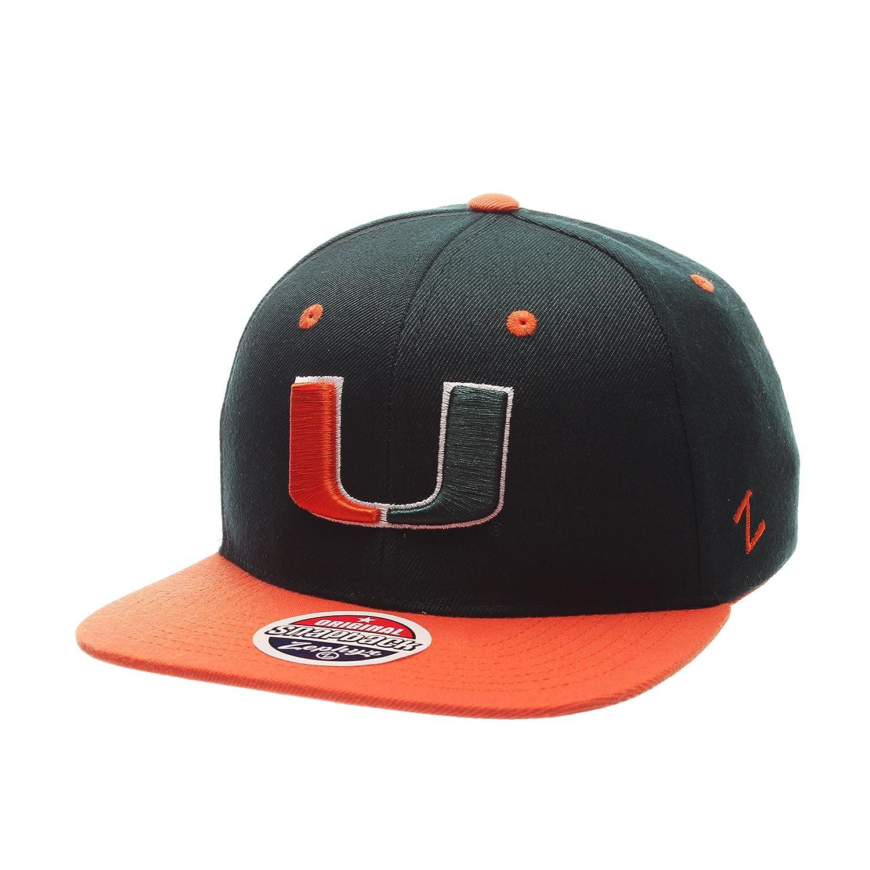 release date 17076 e7d76 Amazon.com   Zephyr Men s Miami Hurricanes Z11 ZWOOL HAT Green ADJ   Sports    Outdoors