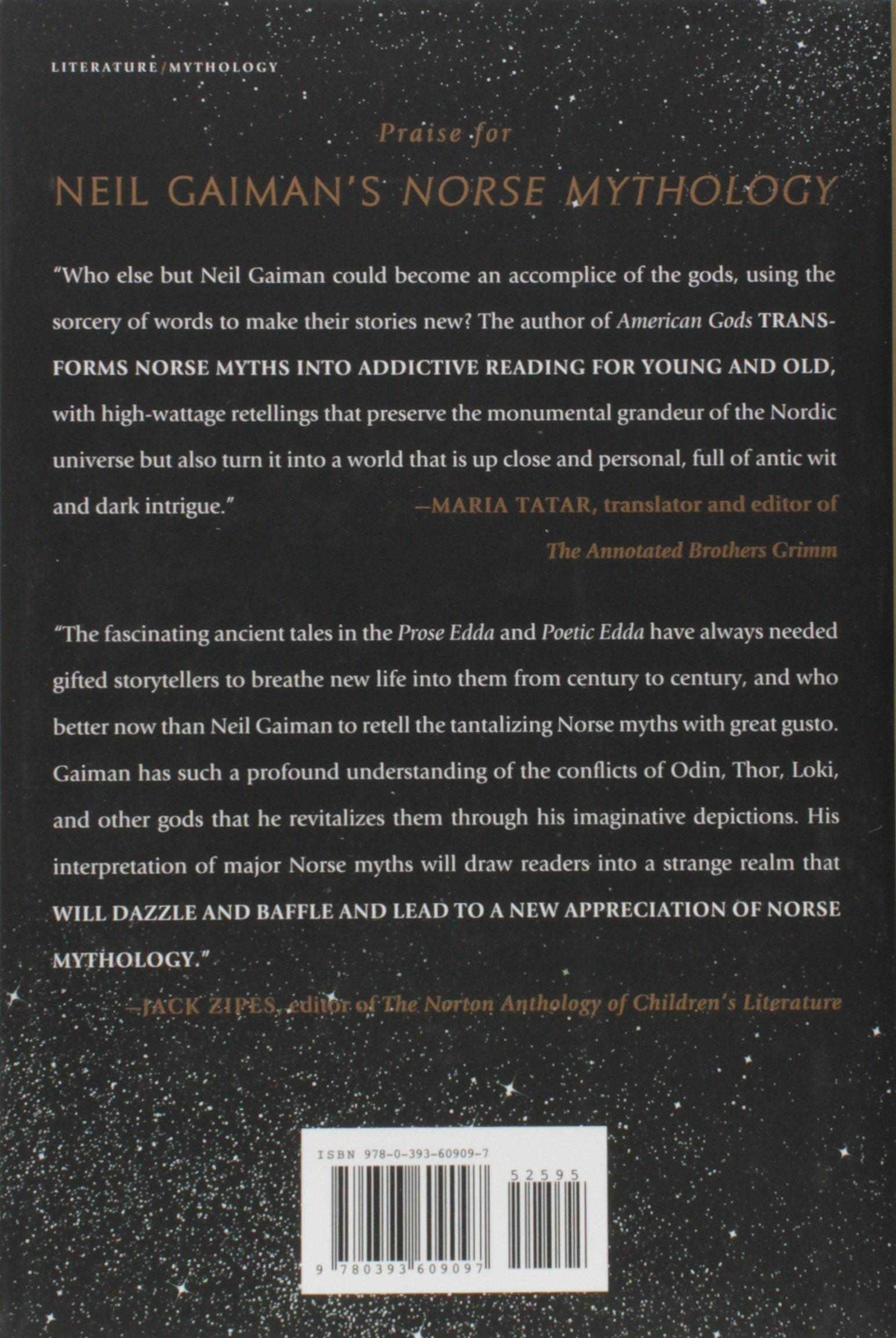 Norse Mythology: Neil Gaiman: 9780393609097: Amazon com: Books