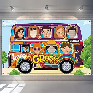 Blulu Decoraciones de Fiesta de Años 60 Hippie Autobús Foto ...