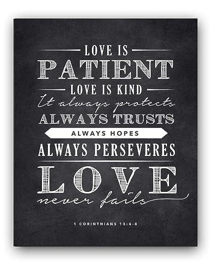 Love Is Patient Quote Gorgeous Amazon Corinthians 4484844848 Love Is Patient Quote Chalkboard Sign