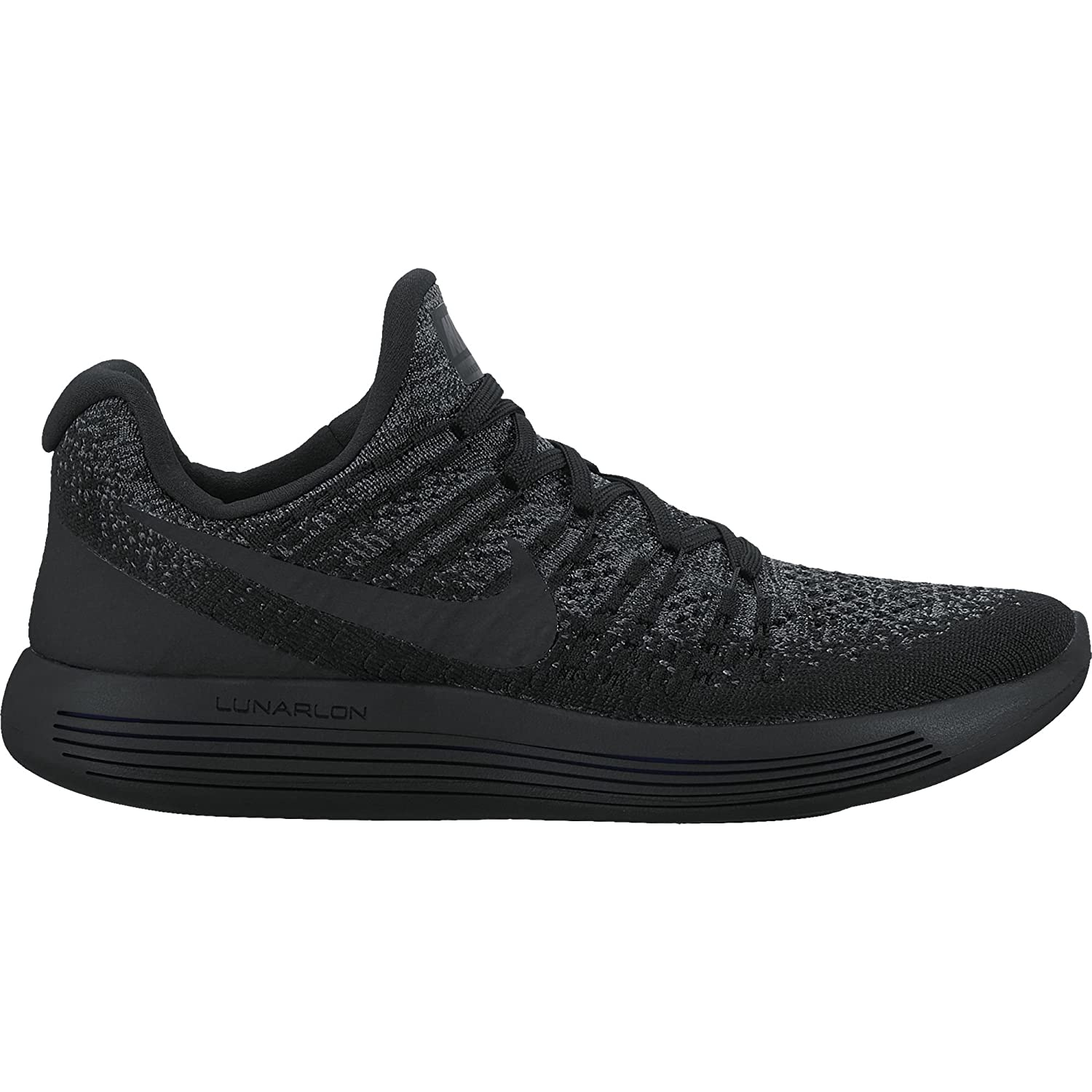 competitive price 12adf 9e721 Amazon.com   Nike Womens Lunarepic Low Flyknit 2 Running Shoe Black Black-Dark  Grey-Racer Blue 10.5   Road Running