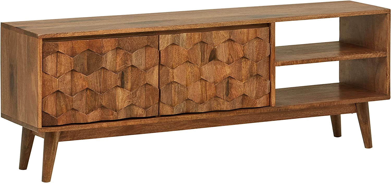 "Amazon Brand – Rivet Emerly Contemporary Media Console Center Storage Cabinet, 57""W, Wood"