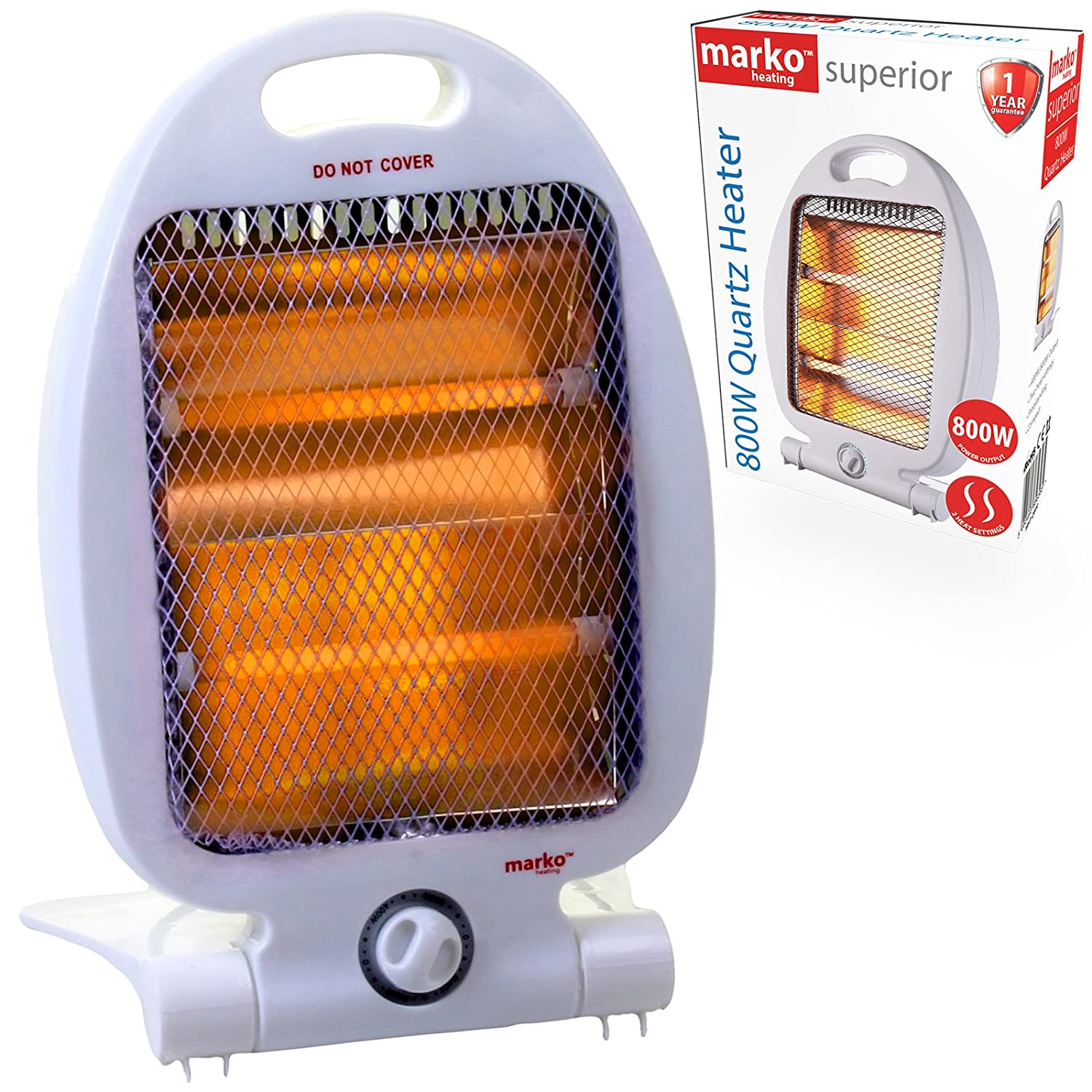 Electric Portable 400W/800W Quartz Halogen Heater