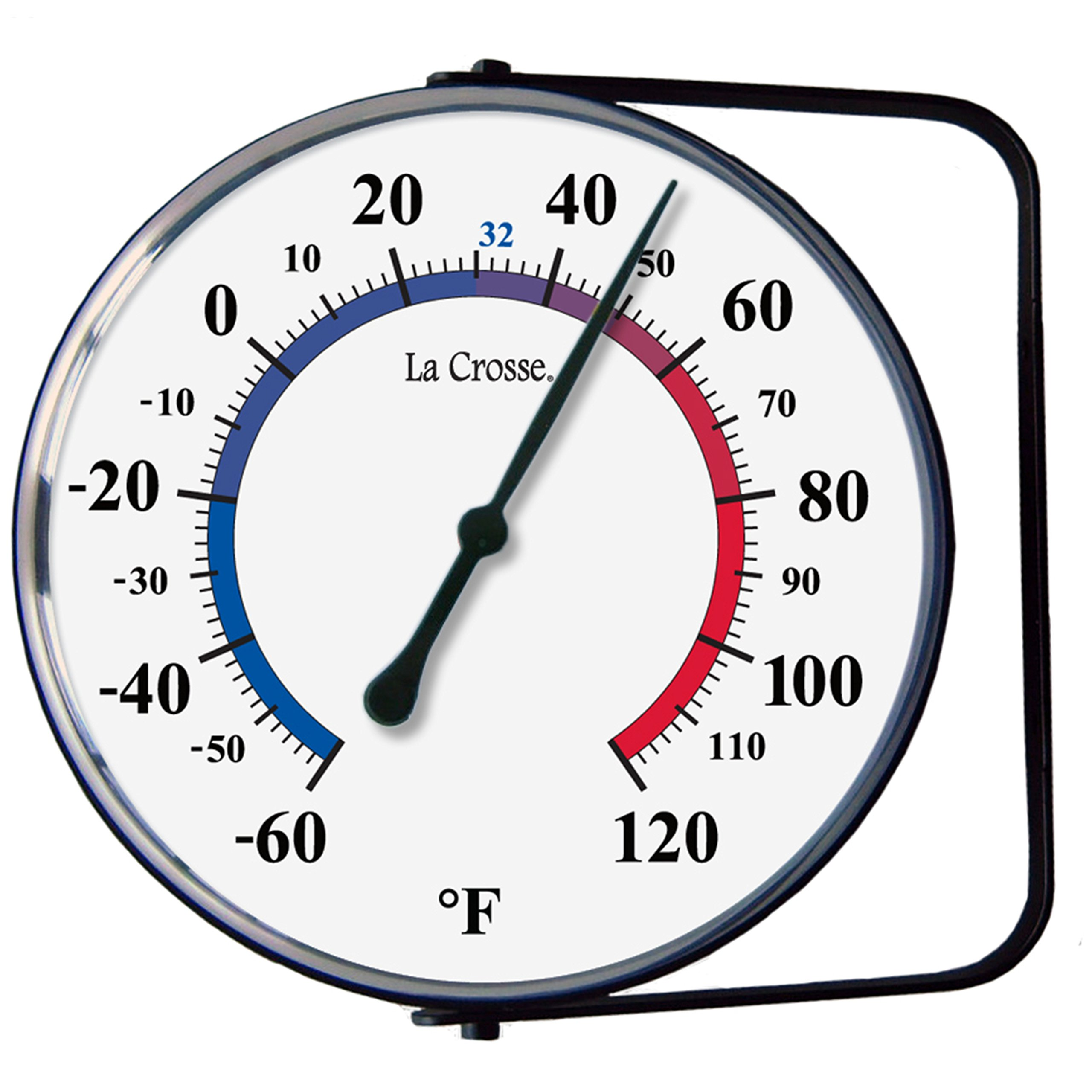 La Crosse Technology 104-105 5'' Hanging Bracket Analog Thermometer