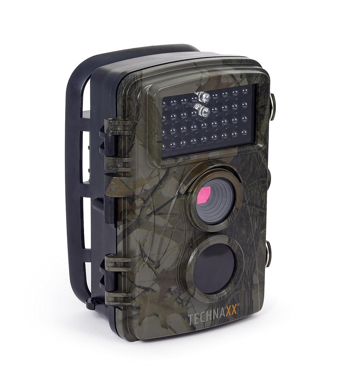 Technaxx Nature Wild Cam TX-69 Full HD Outdoor Überwachungskamera Wildkamera Nachtsicht 12 MP 1080P Wasserdicht Kabellos 0,6 Sekunden Auslösezeit, Bewegungsmelder Fotofalle 6 Sekunden Auslösezeit 4719