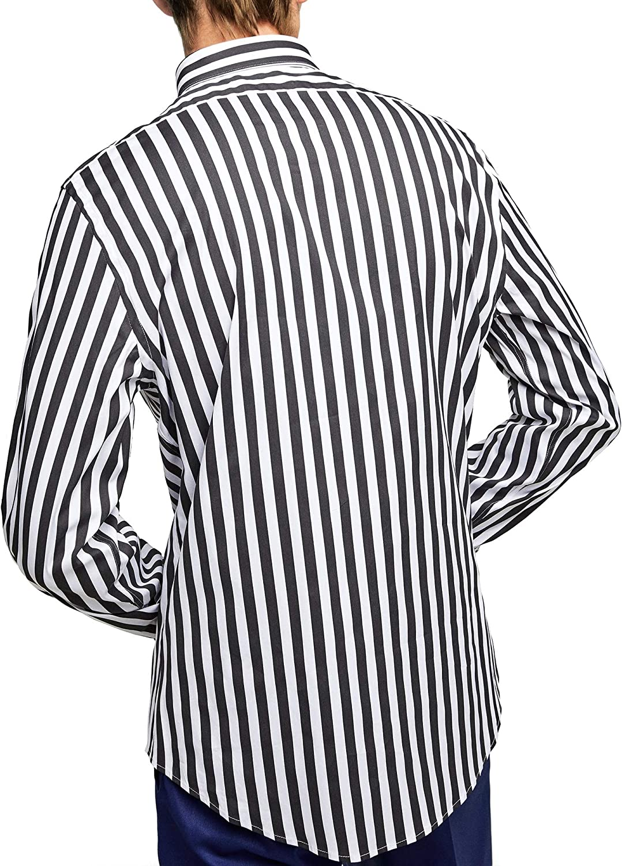 Zara 4084/471 - Camiseta de Manga Corta para Hombre - Negro ...