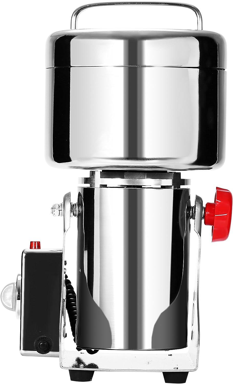 Cueffer Molino de Grano Máquina Eléctrica de Molino Molino de Grano Acero Inoxidable Máquina Oscilante de Moler para Pulverizar Hierba de Grado Alimenticio Maquina de Molino (750g)